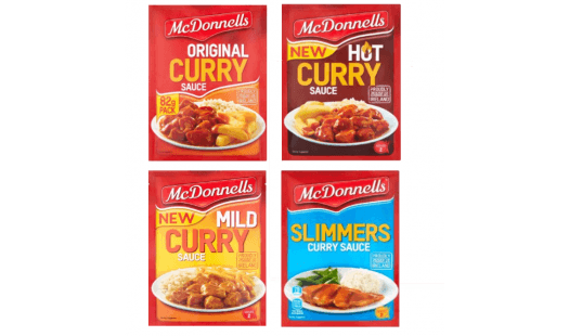 McDonnells Curry Sauce Multipack (Original, Mild, Hot, Slimmer) - 8 Pack